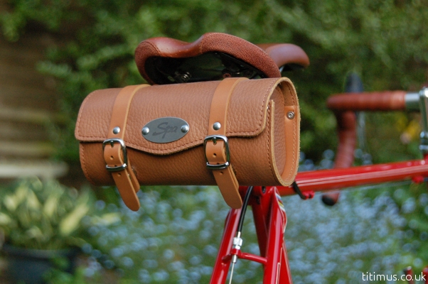 Spa Cycles Leather Saddle Bag