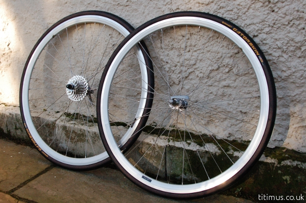 Rigida DP18 Rims With Shimano 105 Hubs and 10 Speed Cassette