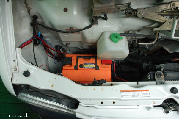 Suzuki Carry Camper Under Bonnet Leisure Battery